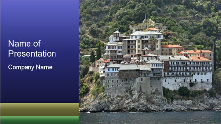 Holy monastery of Athos PowerPoint Template