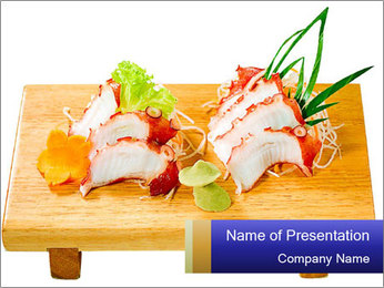 Japanese menu PowerPoint Template