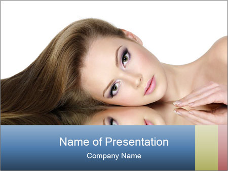 Beautiful teen girl PowerPoint Template