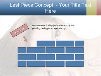 Beautiful teen girl PowerPoint Template - Slide 46