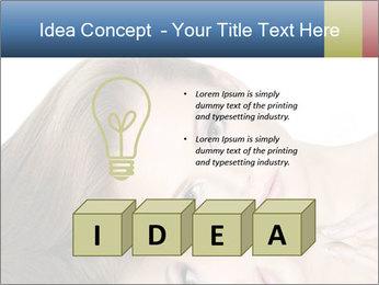 Beautiful teen girl PowerPoint Template - Slide 80