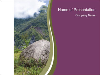 A traditional hut PowerPoint Template