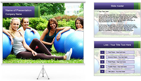 Young and attractive PowerPoint Template