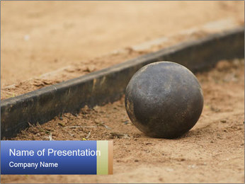 Athletic field. PowerPoint Template - Slide 1