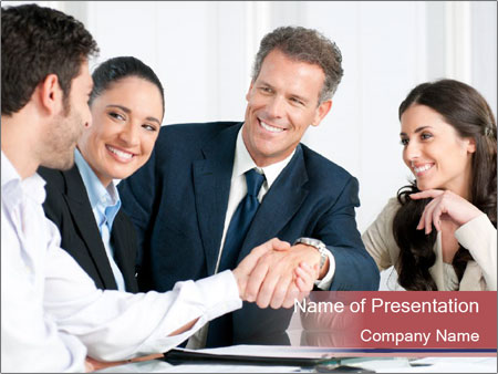 Mature businessman PowerPoint Template