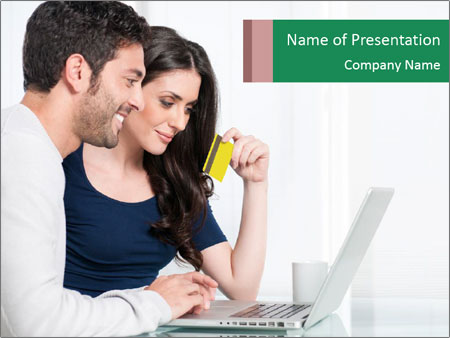 Couple buying online PowerPoint Template