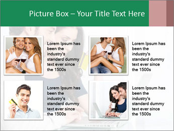 Couple buying online PowerPoint Templates - Slide 14