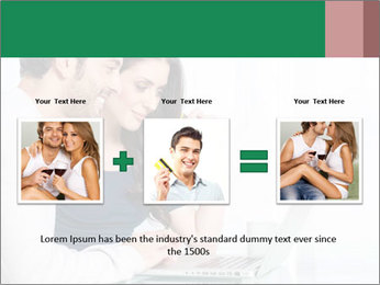 Couple buying online PowerPoint Template - Slide 22
