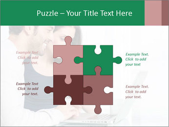 Couple buying online PowerPoint Templates - Slide 43
