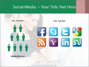 Couple buying online PowerPoint Template - Slide 5