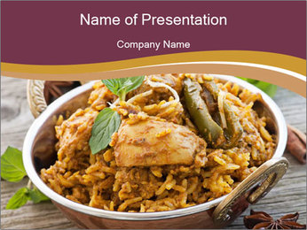 Biryani PowerPoint Template - Slide 1