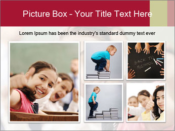 Happy children smiling PowerPoint Template - Slide 19