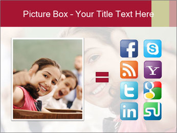 Happy children smiling PowerPoint Template - Slide 21