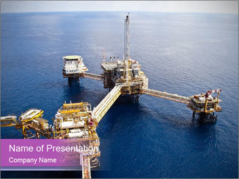 Oil refinery PowerPoint Template - Slide 1