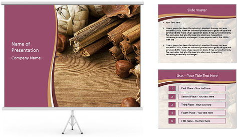Scented potpourri PowerPoint Template