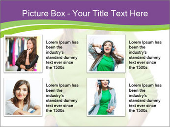 Smiling woman PowerPoint Template - Slide 14