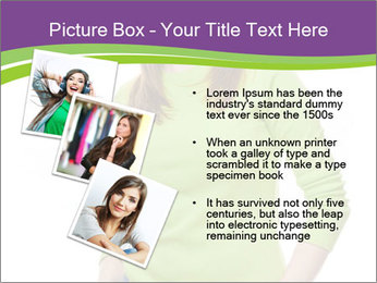 Smiling woman PowerPoint Template - Slide 17