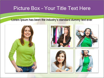 Smiling woman PowerPoint Template - Slide 19