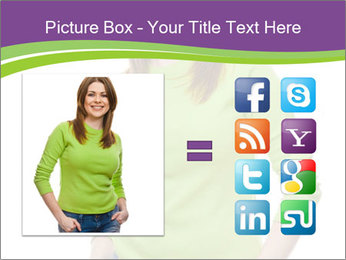 Smiling woman PowerPoint Template - Slide 21