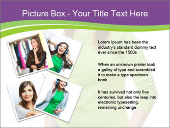 Smiling woman PowerPoint Template - Slide 23