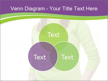 Smiling woman PowerPoint Template - Slide 33