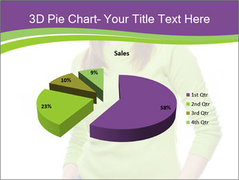 Smiling woman PowerPoint Template - Slide 35