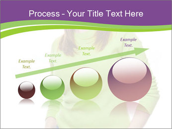 Smiling woman PowerPoint Template - Slide 87