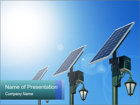 Solar powered PowerPoint Templates