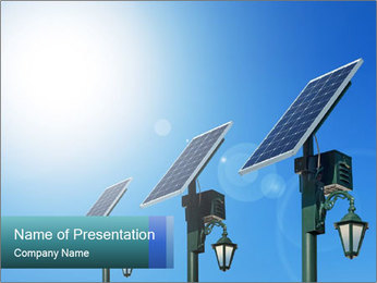 Solar powered PowerPoint Template - Slide 1