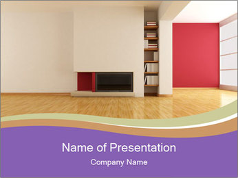 Empty modern interior PowerPoint Template - Slide 1
