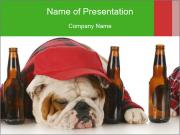 Drunk dogs PowerPoint Templates