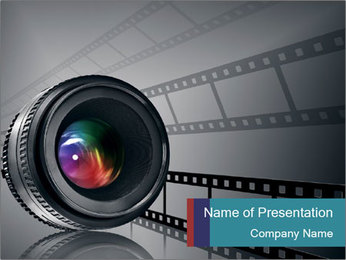 Film strip PowerPoint Template - Slide 1