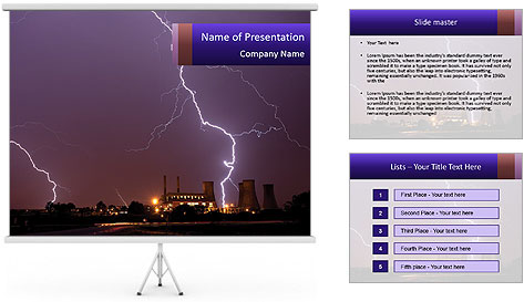 Lightning PowerPoint Template