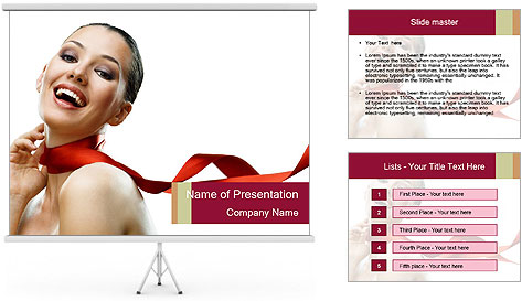 Beauty girl PowerPoint Template