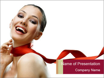 Beauty girl PowerPoint Template - Slide 1