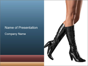 Female feet PowerPoint Template