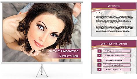 Sensual brunette PowerPoint Template