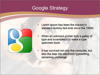 Sensual brunette PowerPoint Template - Slide 10