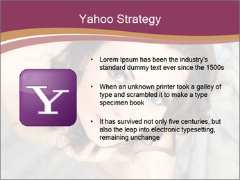 Sensual brunette PowerPoint Template - Slide 11