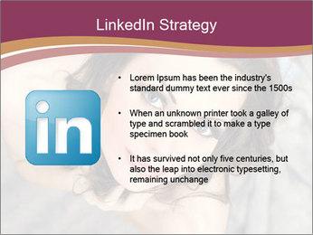 Sensual brunette PowerPoint Template - Slide 12