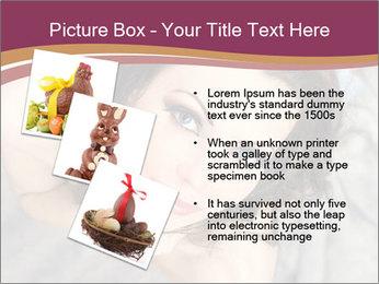 Sensual brunette PowerPoint Template - Slide 17