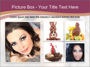Sensual brunette PowerPoint Template - Slide 19