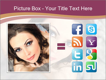 Sensual brunette PowerPoint Template - Slide 21