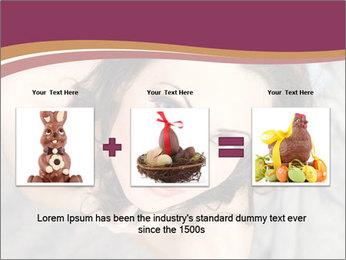Sensual brunette PowerPoint Template - Slide 22