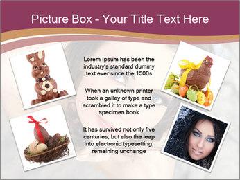 Sensual brunette PowerPoint Template - Slide 24