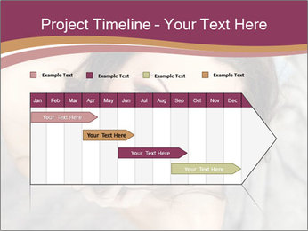 Sensual brunette PowerPoint Template - Slide 25