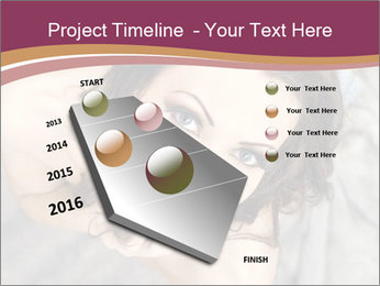 Sensual brunette PowerPoint Template - Slide 26