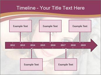 Sensual brunette PowerPoint Template - Slide 28