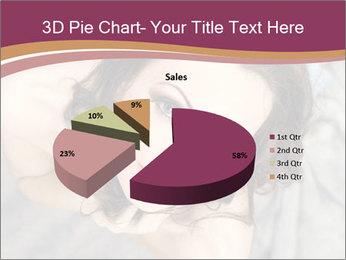 Sensual brunette PowerPoint Template - Slide 35