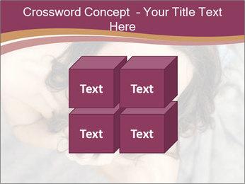 Sensual brunette PowerPoint Template - Slide 39